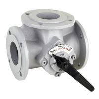 Honeywell 3-way flange mixer 3-WAY ROTARY VALVE ANGLED FLOW Centra-DR GG 20 grey PN 6 angular DN 100 DR100FA  DR100FA