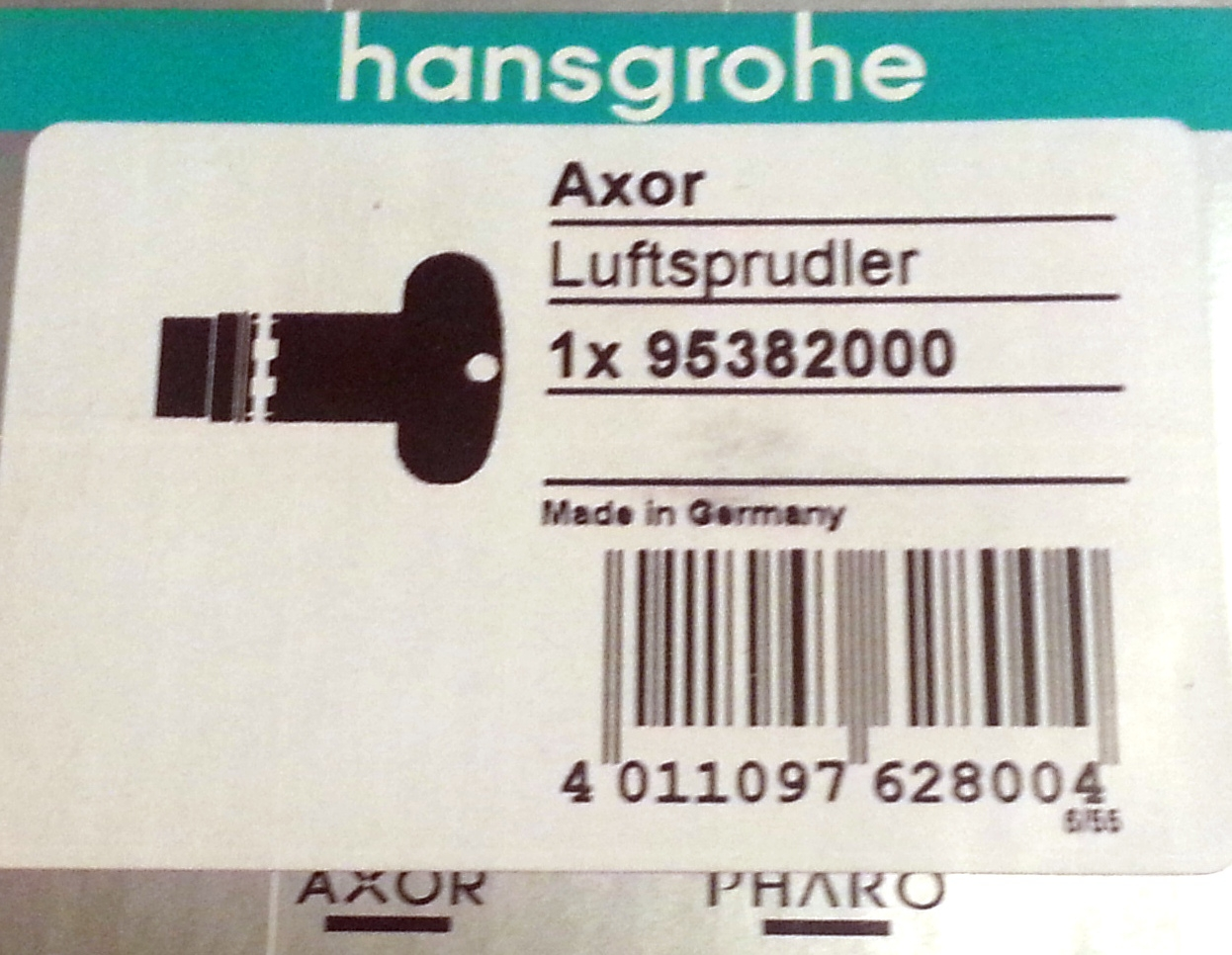 hansgrohe luftsprudler axor axor citterio m 15 gpm chrom 95382000 meinbad. Black Bedroom Furniture Sets. Home Design Ideas